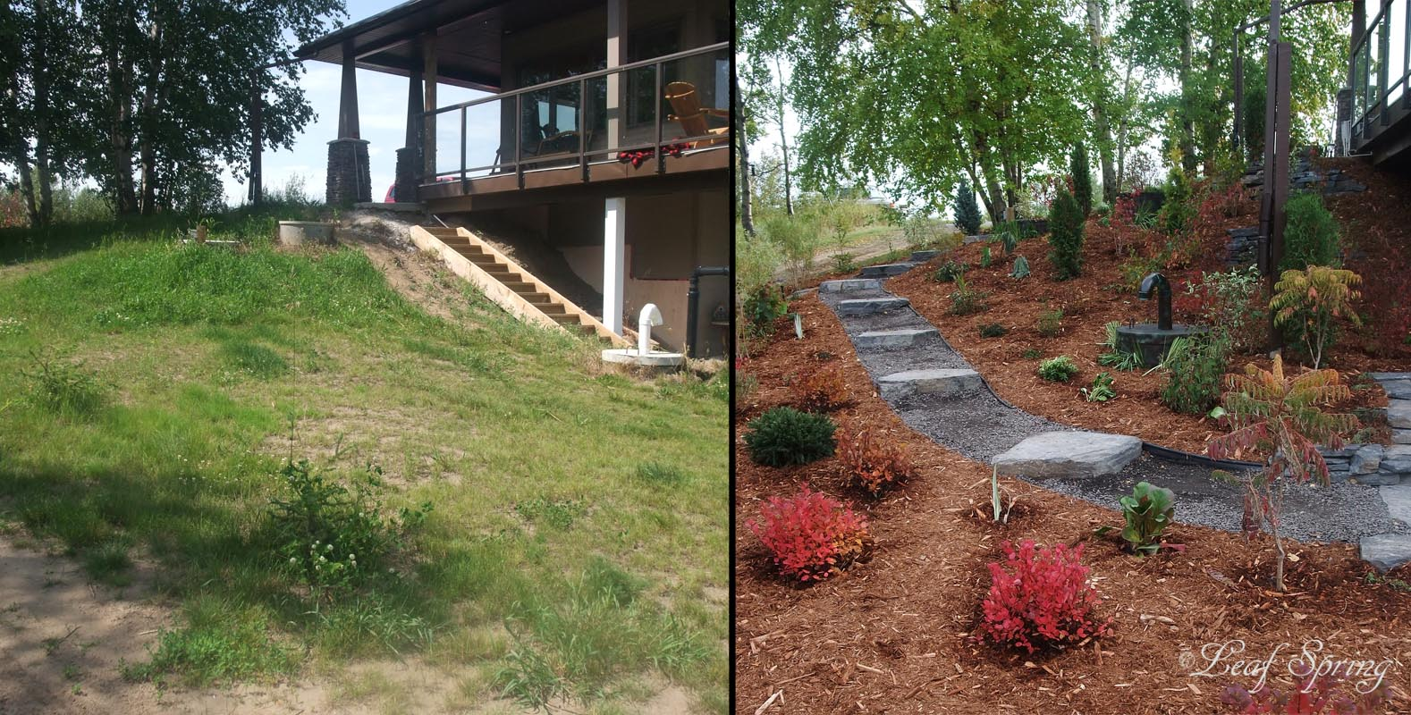 leaf spring landscaping edmonton before and after photos